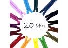 Spirálové zipy dělitelné 20 cm