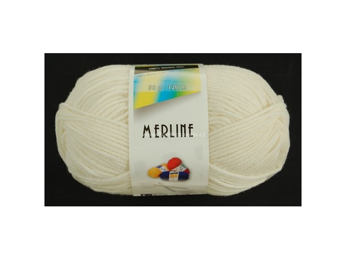 příze Merline 14701 bílá