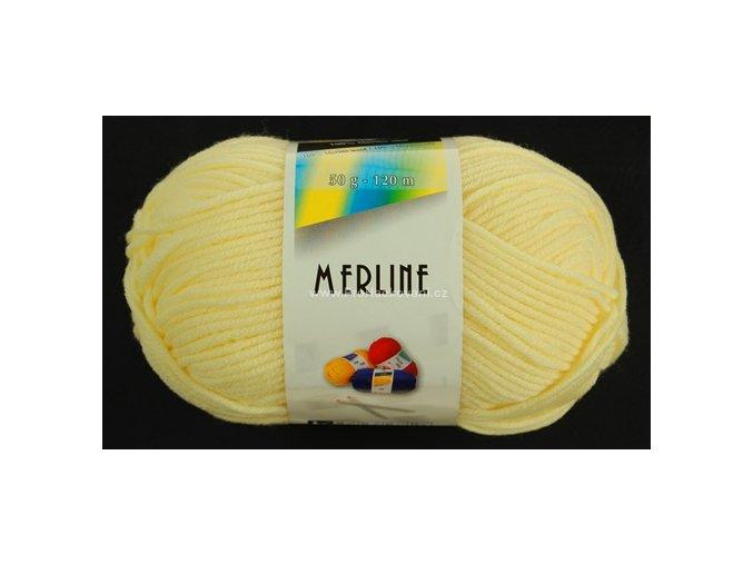 příze Merline 14747 světle žlutá