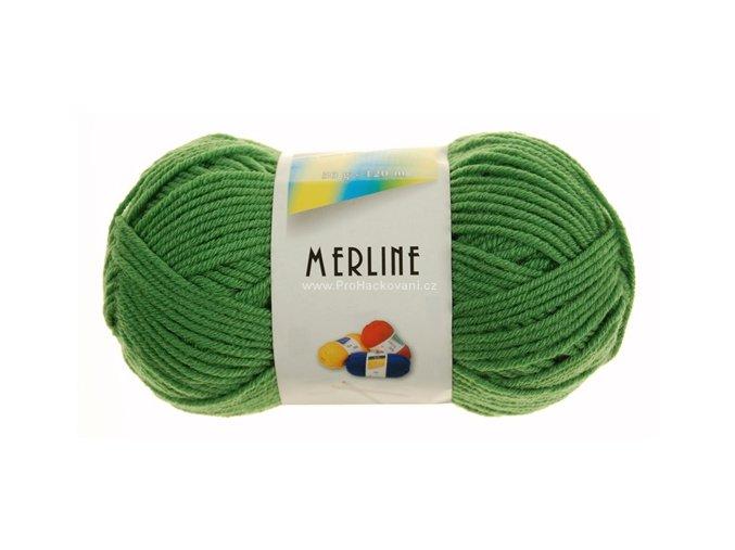 příze Merline 14740 trávově zelená