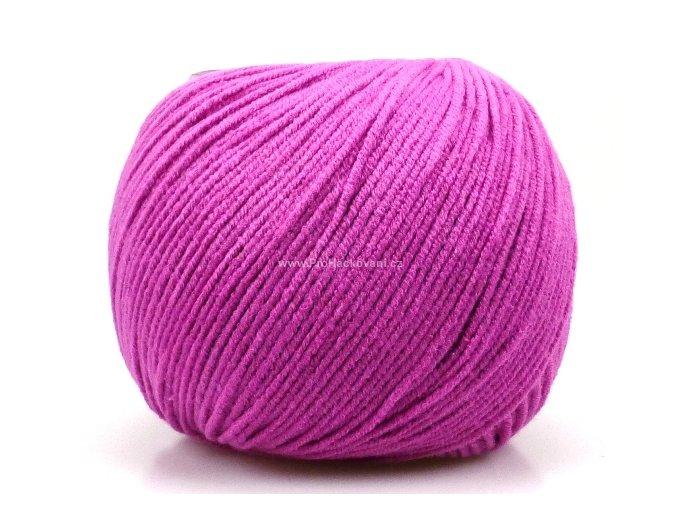 příze Jeans 8045 růžově fialková