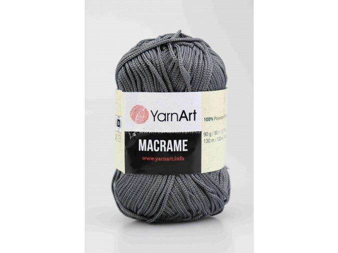 příze Macrame M159 tmavě šedá