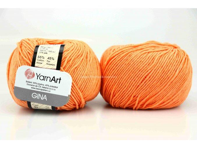 příze YarnArt Jeans 23 světlejší oranžová