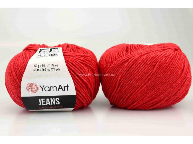 příze YarnArt Jeans 26 světlejší červená