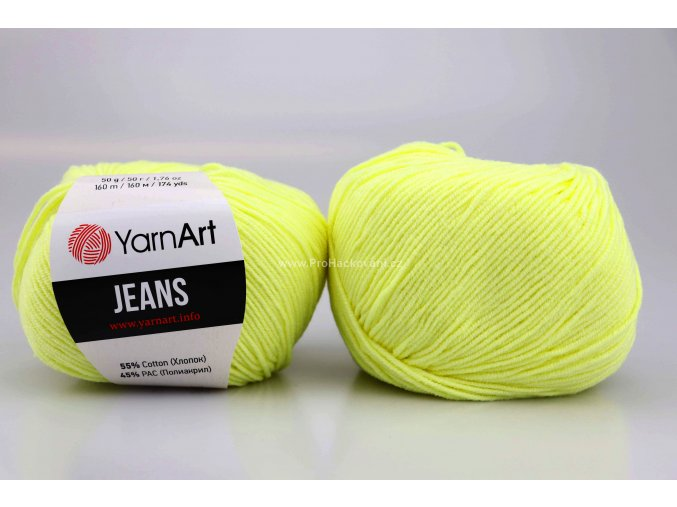 příze YarnArt Jeans  67 světle žlutá