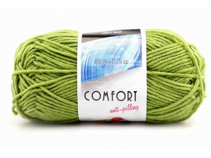 příze Comfort 53783 matná zelená