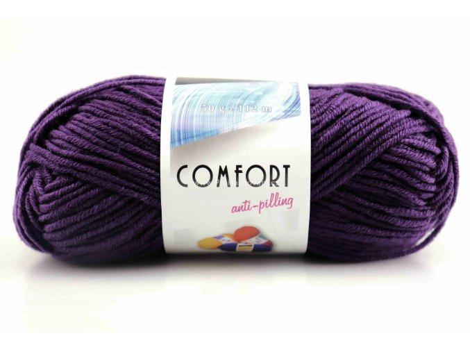 příze Comfort 53793 tmavě fialová