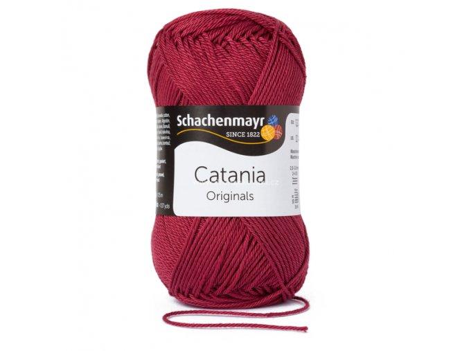 Příze Catania 425 matná vínová