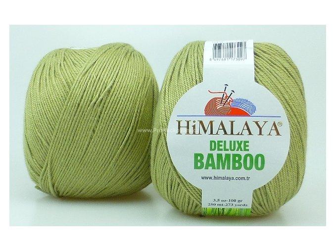 příze DeLuxe Bamboo 124-32 jemná olivová