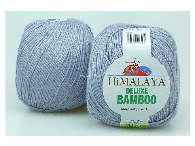 příze DeLuxe Bamboo 124-36 šedá