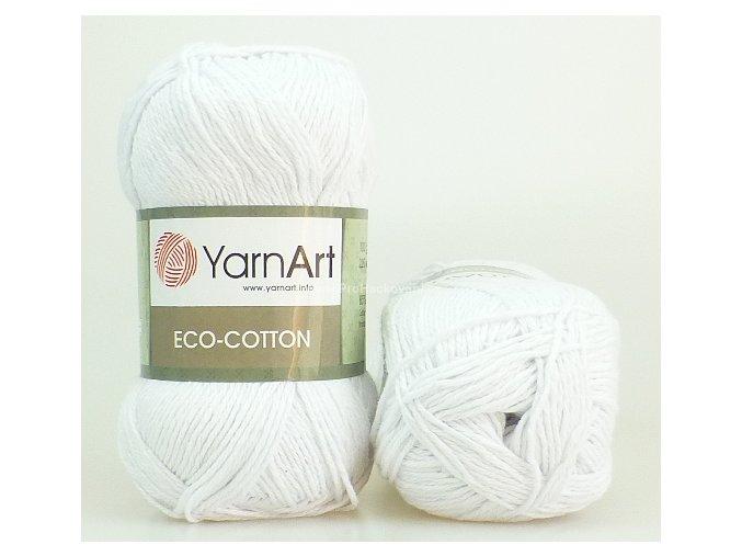 příze Eco Cotton 760 bílá