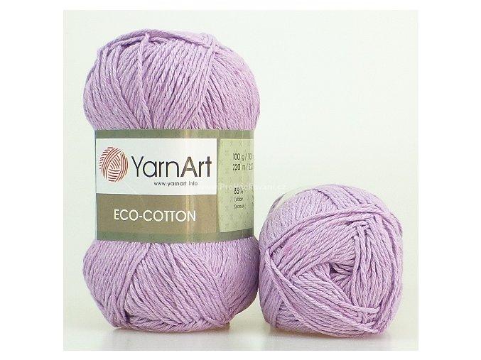 příze Eco Cotton 771 lila