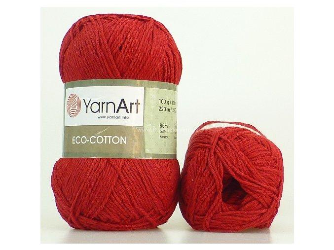 příze Eco Cotton 776 tmavě červená