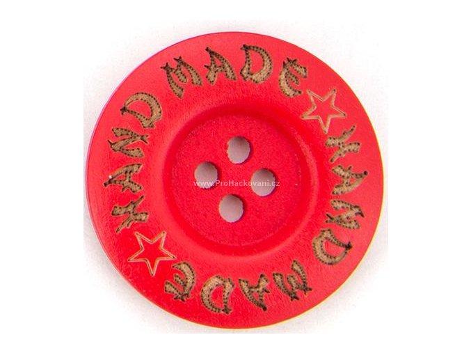 Hand made kulatý, červený 35mm