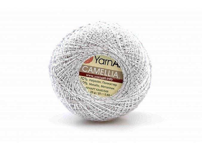 příze Camellia 411 stříbrná