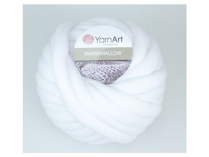 příze Marshmallow 901 bílá optic