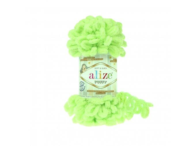 příze Puffy 41 jarní zelená