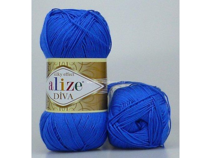 příze Diva 132 královská modrá