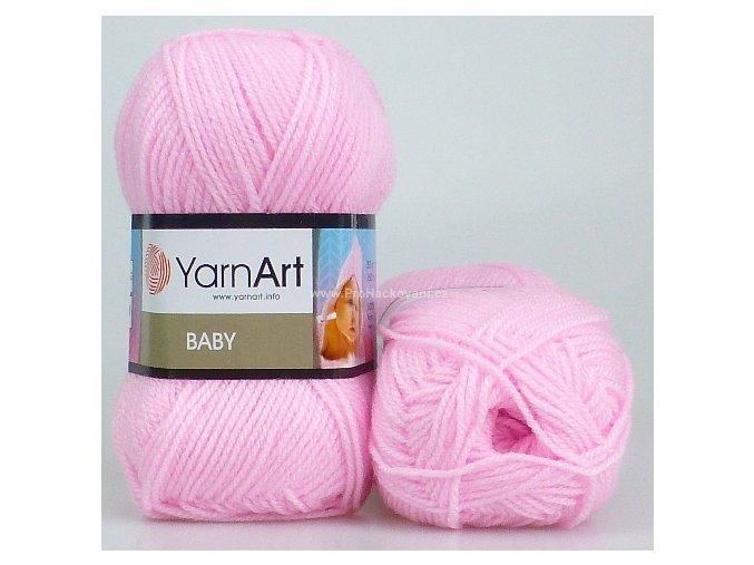 příze Baby 649 světle růžová