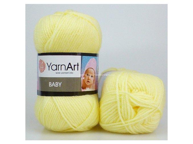 příze Baby 7003 pastelově žlutá