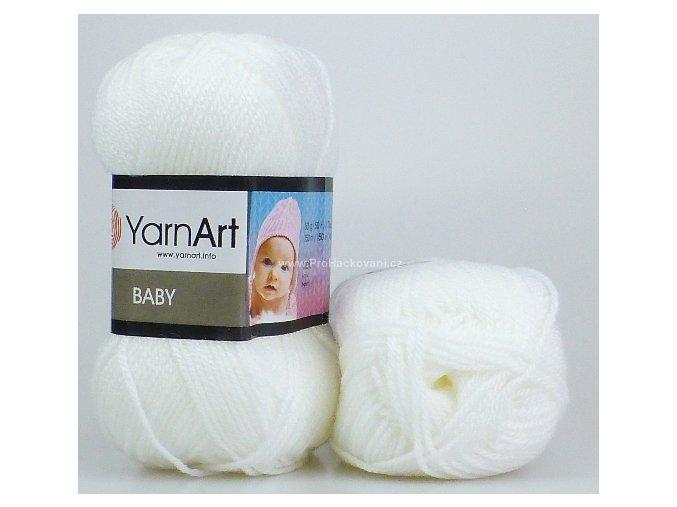 příze Baby 501 bílá
