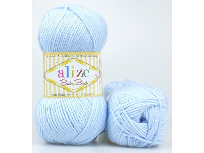 příze Baby Best 183 pastelově modrá