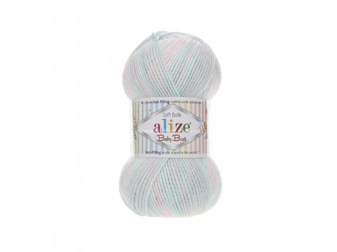 příze Baby Best Batik 6623 jemný pastelový mix
