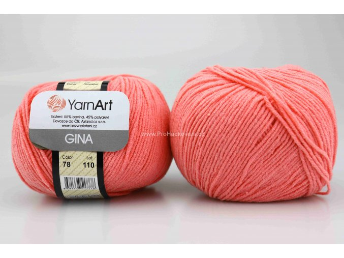 příze YarnArt Jeans 78 fresiově růžová