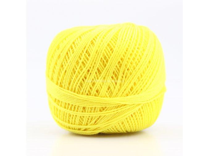 Háčkovací příze Sněhurka 1654 citronově žlutá
