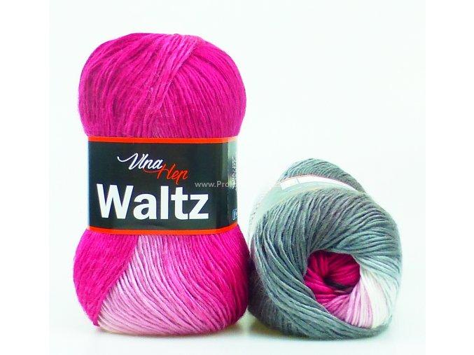 příze Waltz 5701 růžová a šedá