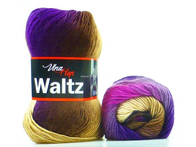 příze Waltz 5705 fialová a hnědá