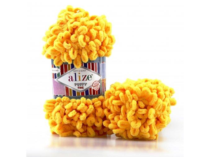 příze Puffy Fine 082 Žlutá slunečnicová