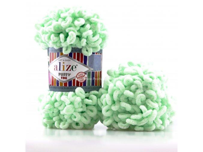 příze Puffy Fine 464 Pastelově zelená