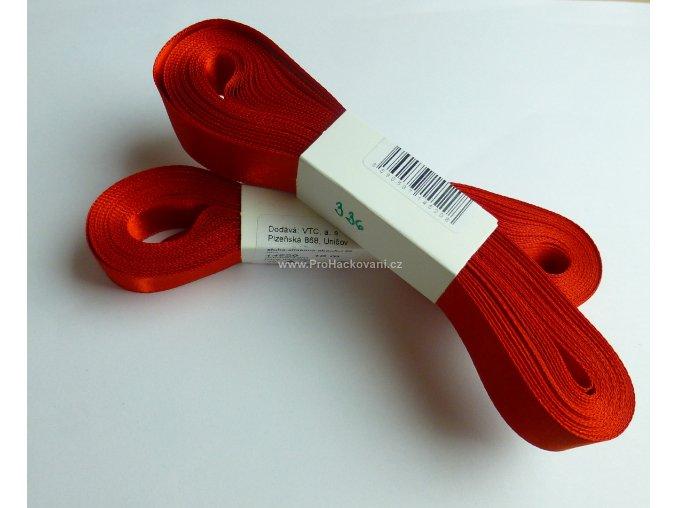 stuha atlasová 336 červená 20 mm