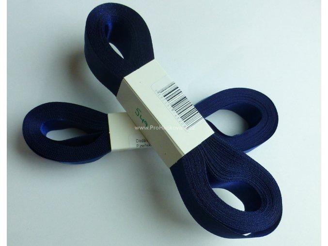 stuha atlasová 549 tmavě modrá 20 mm