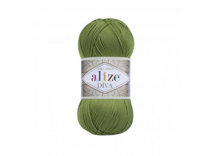 příze Diva 210 lesní zelená