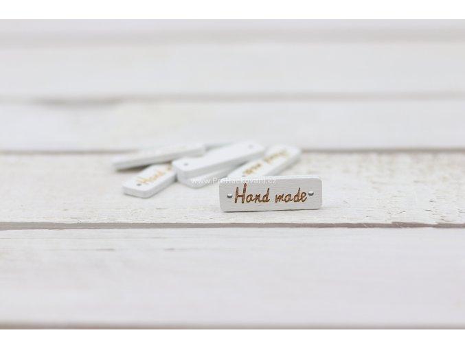 Hand made, obdélník bílý