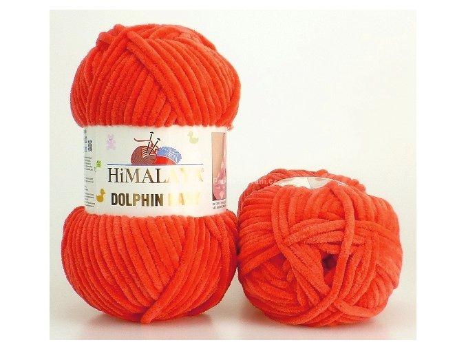 příze Dolphin Baby 80312 tmavší oranžová