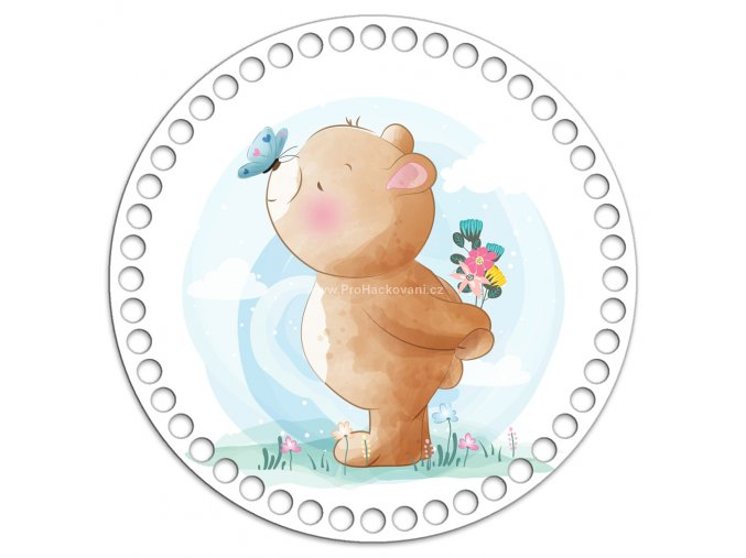 Dno s obrázkem kruh 20 cm medvídek