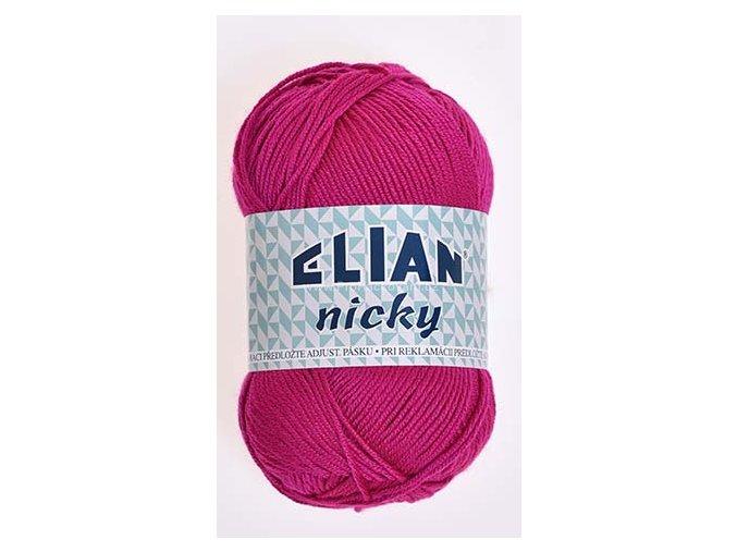 příze Elian Nicky 6314 sytě růžová