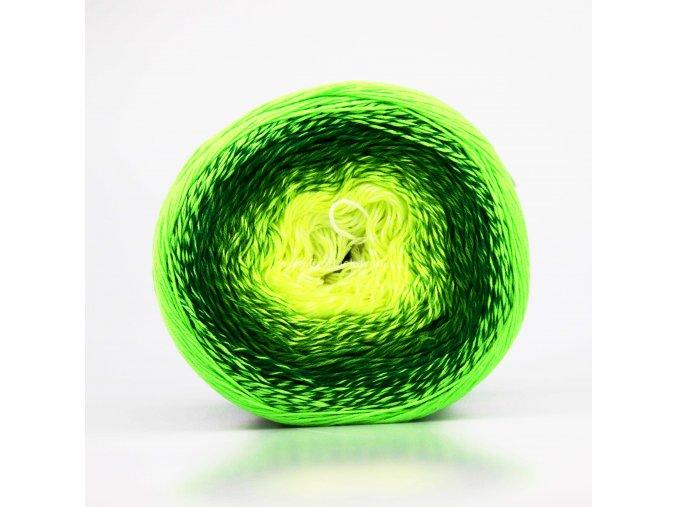Flowers Vivid 508 žlutá, tmavě zelené, neonově zelená