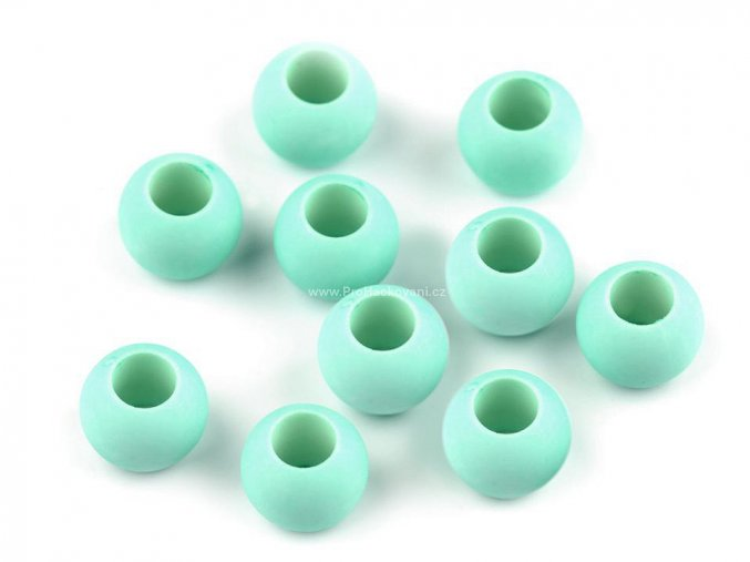 Plastový korálek Ø 10x12 mm mint