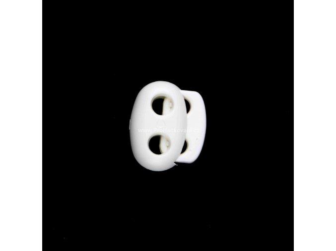 Brzdička dvoušňůrová malá bílá