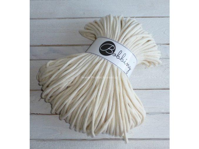 Bobbiny šňůry, 100% bavlna - natural