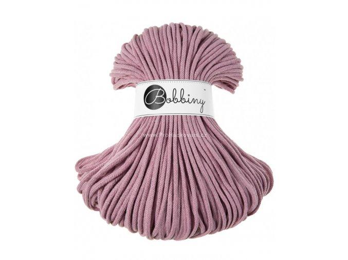 Bobbiny šňůry Premium béžově starorůžové (Dusty pink)
