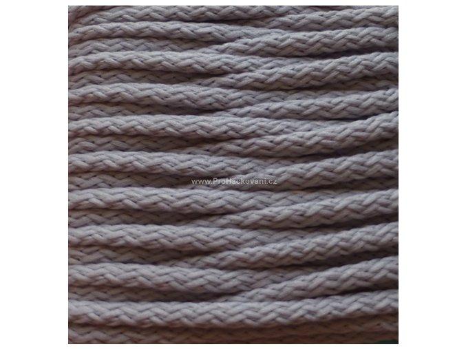Šňůry PES 52 stříbřitě šedé