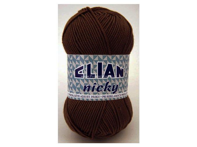příze Elian Nicky 1182 tmavě hnědá