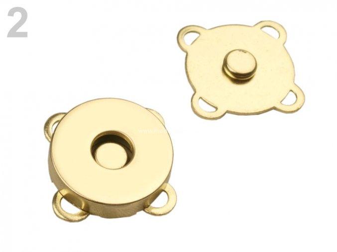 Magnetické zapínání 18 mm zlaté