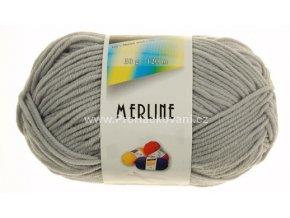 příze Merline 14781 světle šedá