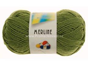 příze Merline 14783 zelená